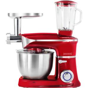 Royalty Line PKM-1900.7BG; 3 in 1 food processor with 1900 watts max Red