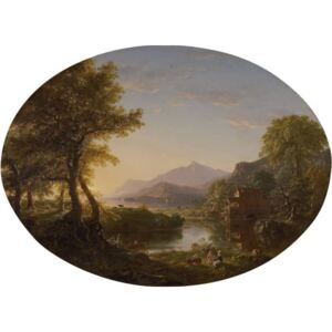 Steve Art Gallery The Old Mill at Sunset,Thomas Cole,50x40cm