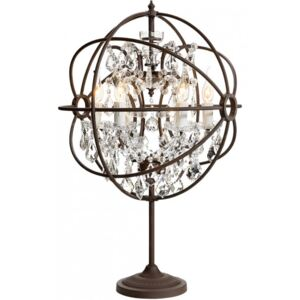 ROME CRYSTAL Table Lamp - Antique Rust/Crystal