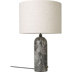 GRAVITY Table Lamp Large - Grey Marble/Canvas