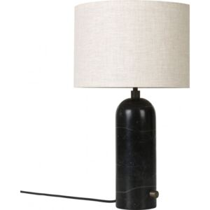 GRAVITY Table Lamp Small - Black Marble/Canvas