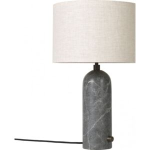 GRAVITY Table Lamp Small - Grey Marble/Canvas