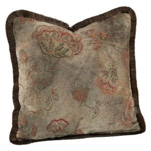 MIRALAGO FLOWER Cushioncover with fringe - Taupe 60x40