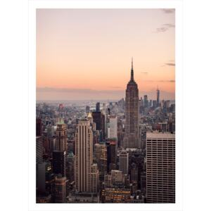 New york city from above poster 21x30cm Nej