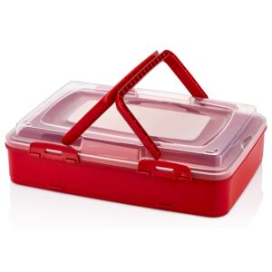Herzberg HG-L719: Single-Tier Takeaway Pastry Carrying Box Red