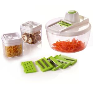 Herzberg HG-8032: Vegetable Slicer with Bowl and Storage Container Set