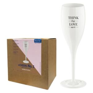 CHEERS NO. 1 Champagneglas - Think less love more - 6-pack