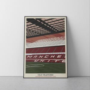 Old Trafford - Iconic Turfs poster - 30x40