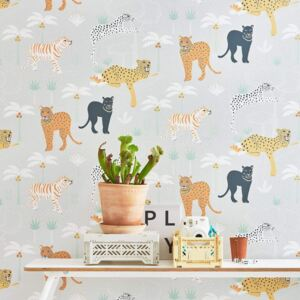 BLACK PANTHER LIGHT GREY Non woven / Easy up-tapet