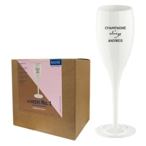 CHEERS NO. 1 Champagneglas - Champagne is the answer - 6-pack