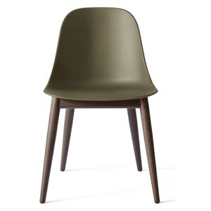Menu Harbour Side Chair Shell - Dark Stained Oak, Olive Shell