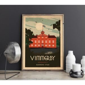 Vimmerby - Art deco poster - A4