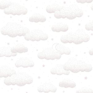 Clouds Pink Non Woven / Easy Up-Tapet