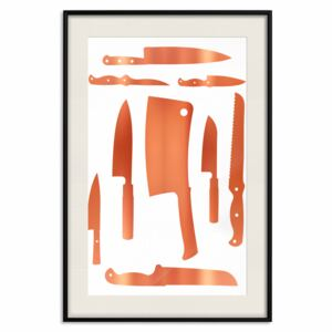 Decorativa Posters: Cleaver and Knives [Deco Poster - Copper]