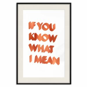 Decorativa Posters: If You Know What I Mean [Deco Poster - Copper]