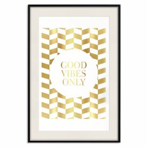 Decorativa Posters: Good Vibes Only [Deco Poster - Gold]