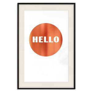 Decorativa Posters: Good Morning Message [Deco Poster - Copper]
