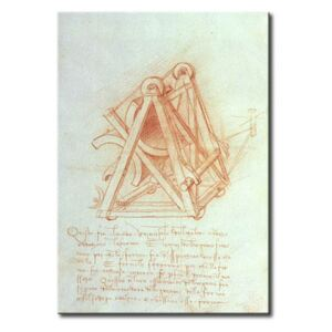 Canvastavla Study of the Wooden Framework with Casting Mould for the Sforza Horse, fol