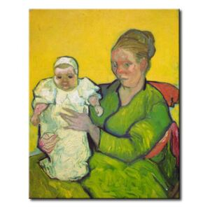 Canvastavla Madame Roulin with her child Marcelle