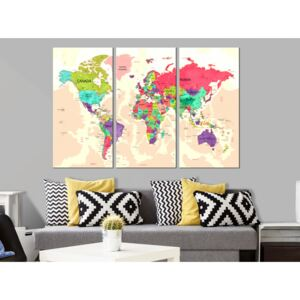Konst World Map: Geography of Colours