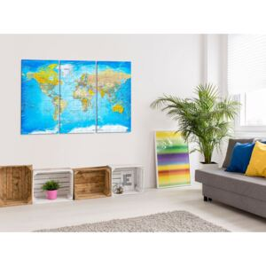 Canvastavla World Map: Song of the Oceans