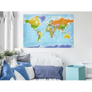 Målning World Map: Countries Flags