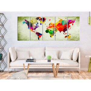 Konst Colourful Continents