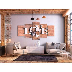 Canvastavla Wooden Letters (5-Parts) Wide