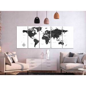 Konst Black and White Map (5 Parts) Narrow
