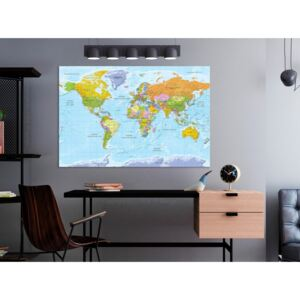 Målning World Map: Faded Colours (1 Part) Italian Text