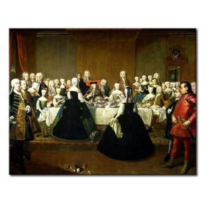 Canvastavla Wedding Breakfast of Empress Maria Theresa of Austria and Francis of Lorraine, later Francis I