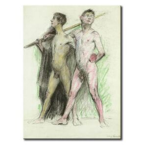 Konst Study of two male figures